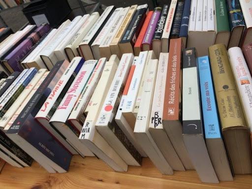 Vente de livres à la bibliothèque de Kérity
