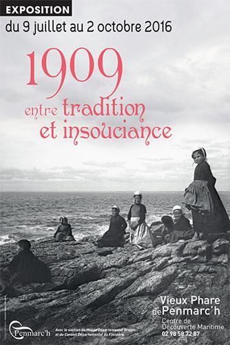 Affiche exposition du Vieux Phare : 1909 entre tradition et insouciance