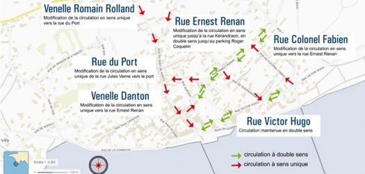 Carte rue du Port de Kérity